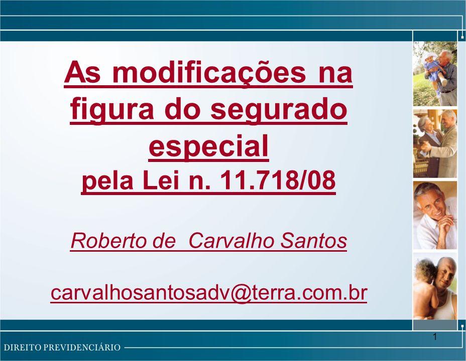 1 As modificações na figura do segurado especial pela Lei n.