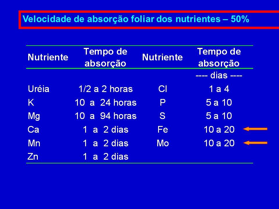 Aplicação Foliar - Mo A aplicação de Mo via foliar tem o objetivo de alcançar um maior aproveitamento do nitrogênio, pois o Mo é precursor da enzima R