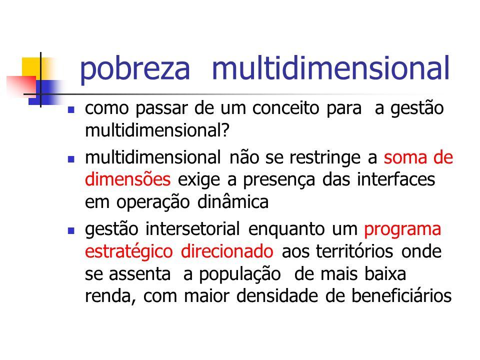 pobreza multidimensional como passar de um conceito para a gestão multidimensional? multidimensional não se restringe a soma de dimensões exige a pres