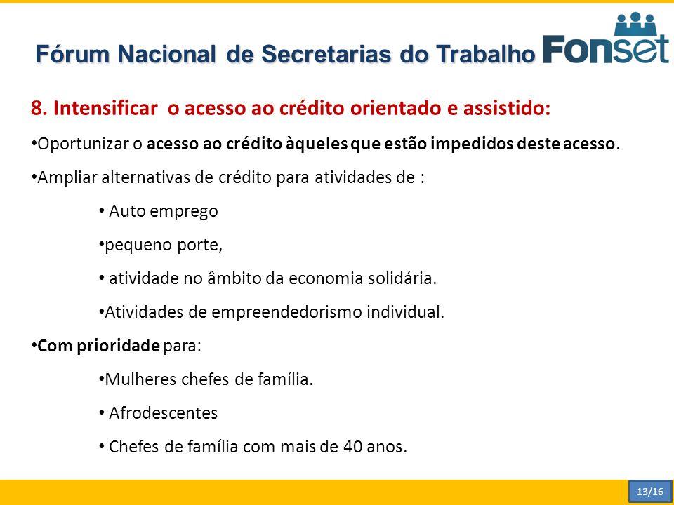 Fórum Nacional de Secretarias do Trabalho 8.