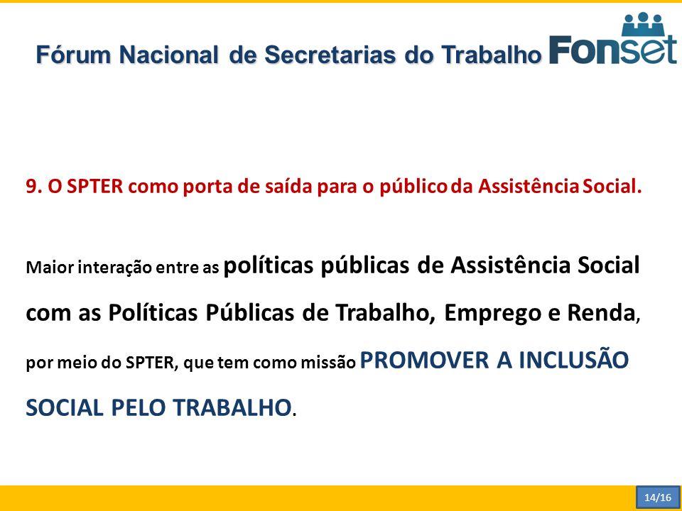 Fórum Nacional de Secretarias do Trabalho 9.