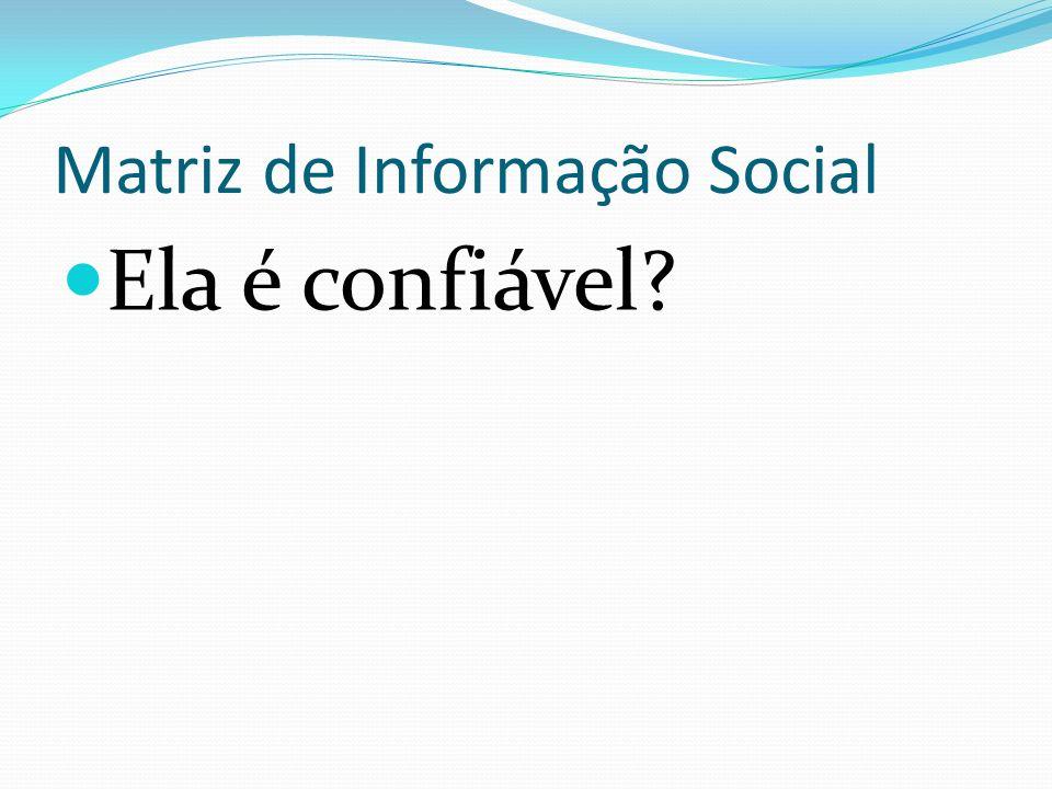 Matriz de Informação Social Ela é confiável?
