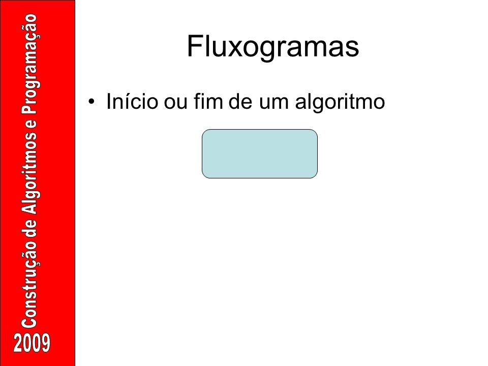 Fluxogramas Início ou fim de um algoritmo