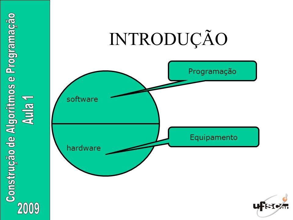 INTRODUÇÃO software hardware Programação Equipamento