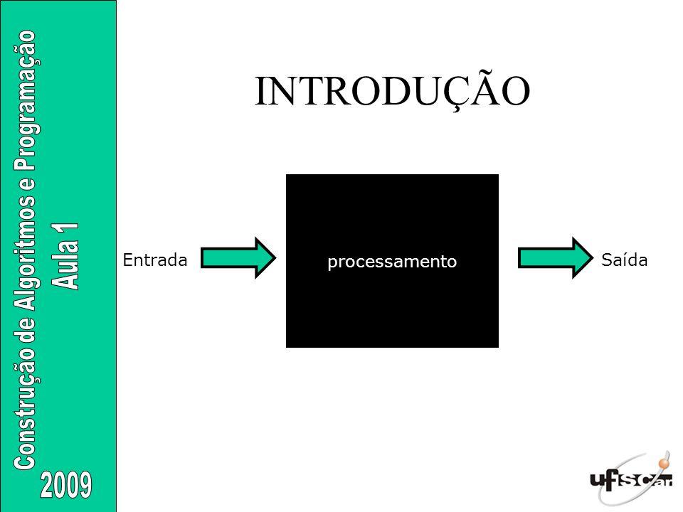 INTRODUÇÃO processamento EntradaSaída