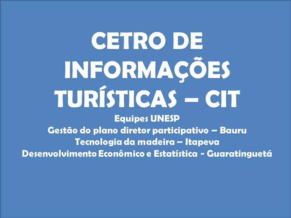 CETRO DE INFORMAÇÕES TURÍSTICAS – CIT Equipes UNESP Gestão do plano diretor participativo – Bauru Tecnologia da madeira – Itapeva Desenvolvimento Econ