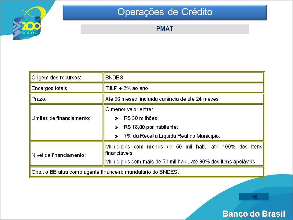 Banco do Brasil Operações de Crédito PMAT