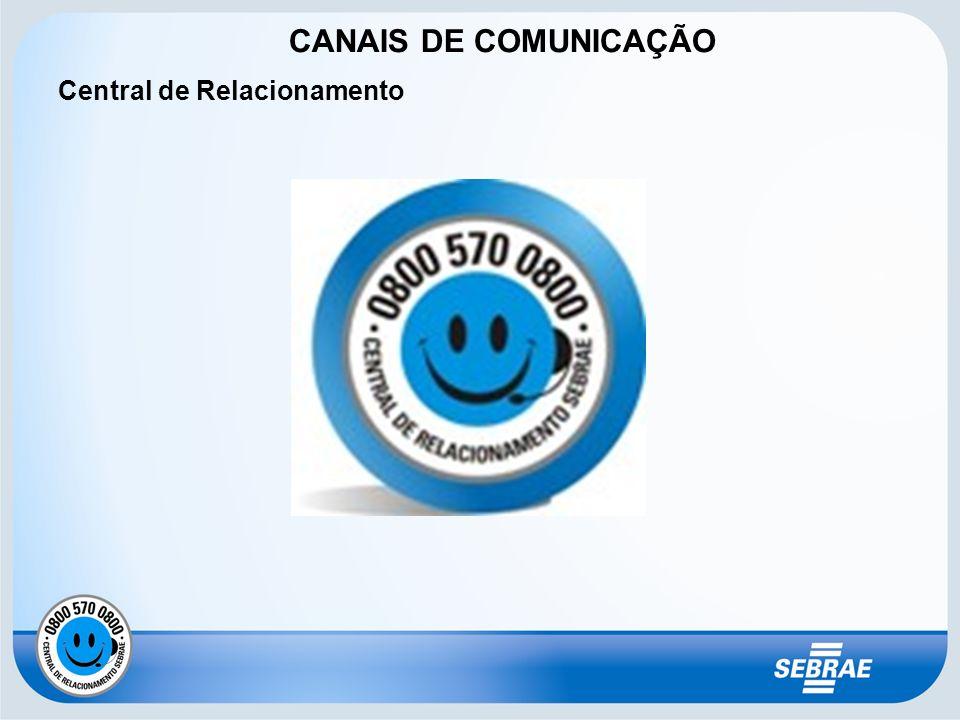 CANAIS DE COMUNICAÇÃO Central de Relacionamento