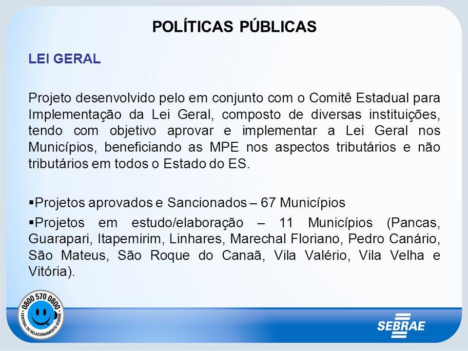 LEI GERAL Projeto desenvolvido pelo em conjunto com o Comitê Estadual para Implementação da Lei Geral, composto de diversas instituições, tendo com ob