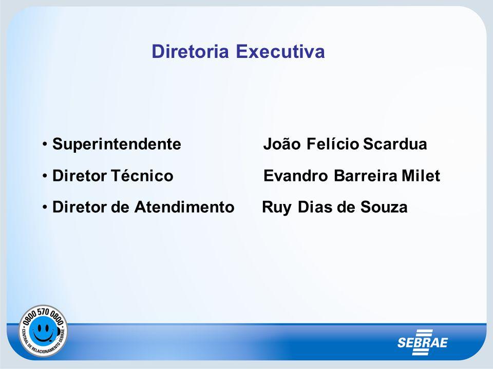 Diretoria Executiva Superintendente João Felício Scardua Diretor Técnico Evandro Barreira Milet Diretor de Atendimento Ruy Dias de Souza