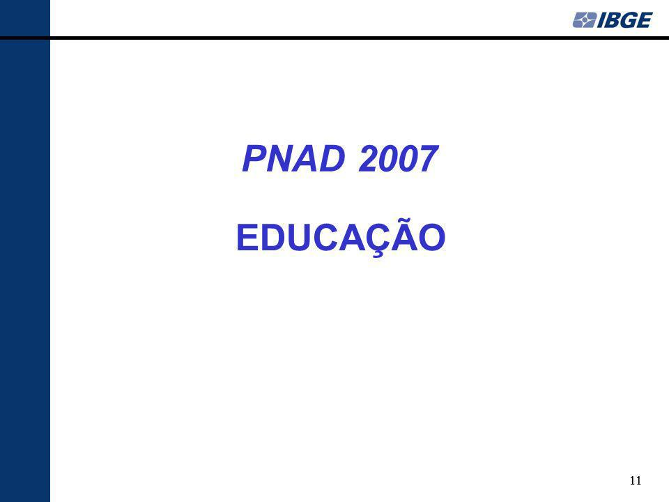 11 EDUCAÇÃO PNAD 2007