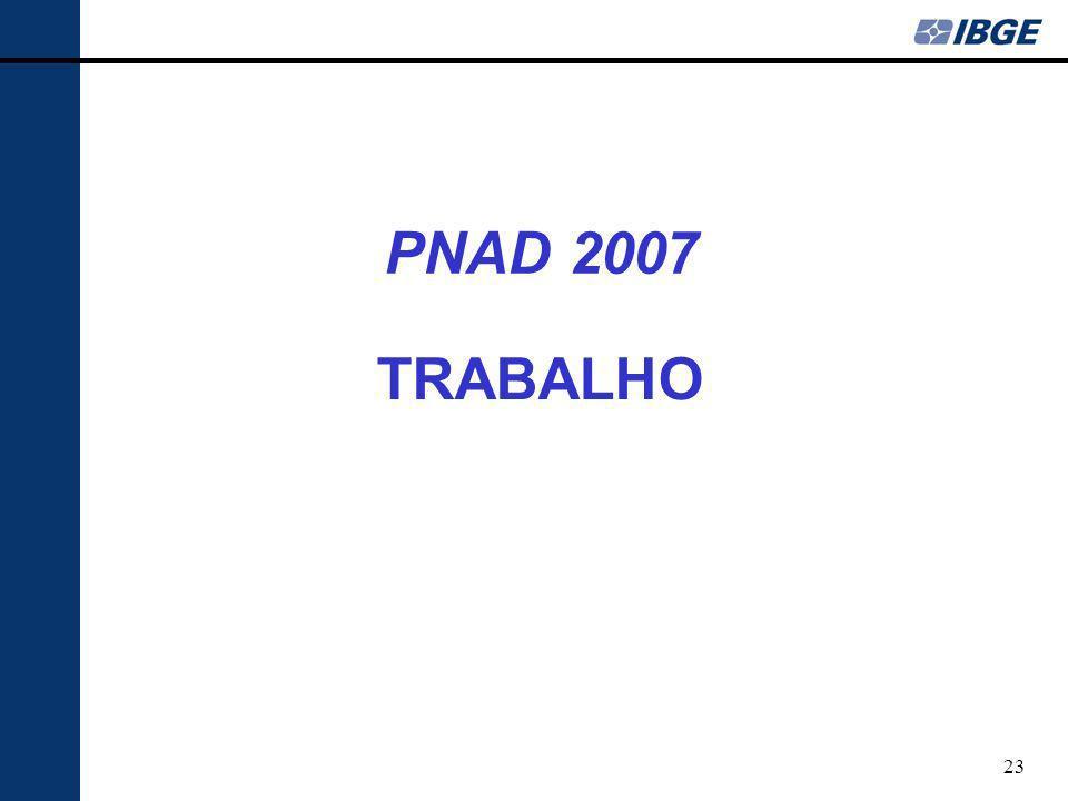 23 TRABALHO PNAD 2007