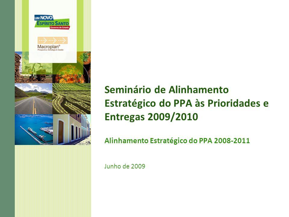 Seminário de Alinhamento Estratégico do PPA às Prioridades e Entregas 2009/2010 Alinhamento Estratégico do PPA 2008-2011 Junho de 2009