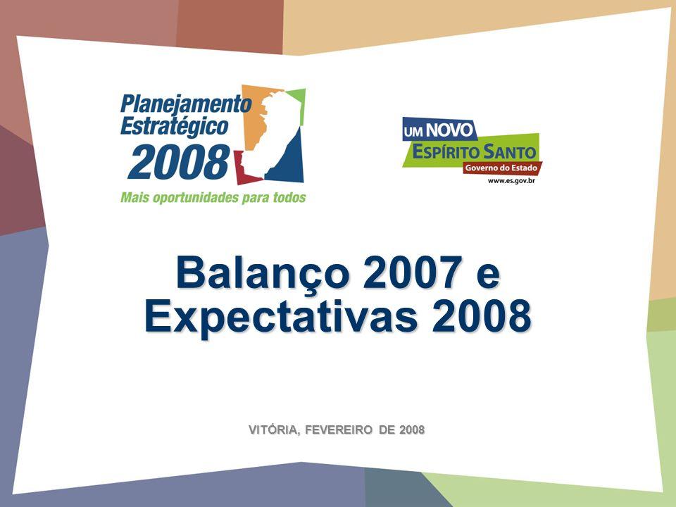 Balanço 2007 e Expectativas 2008 VITÓRIA, FEVEREIRO DE 2008