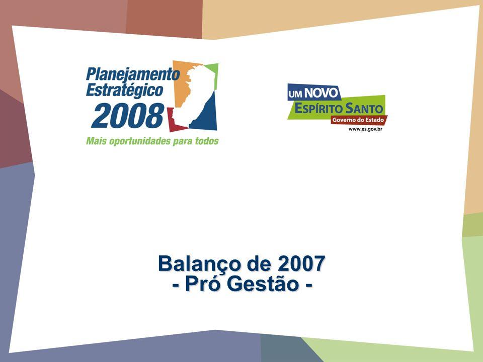 Balanço de 2007 - Pró Gestão -