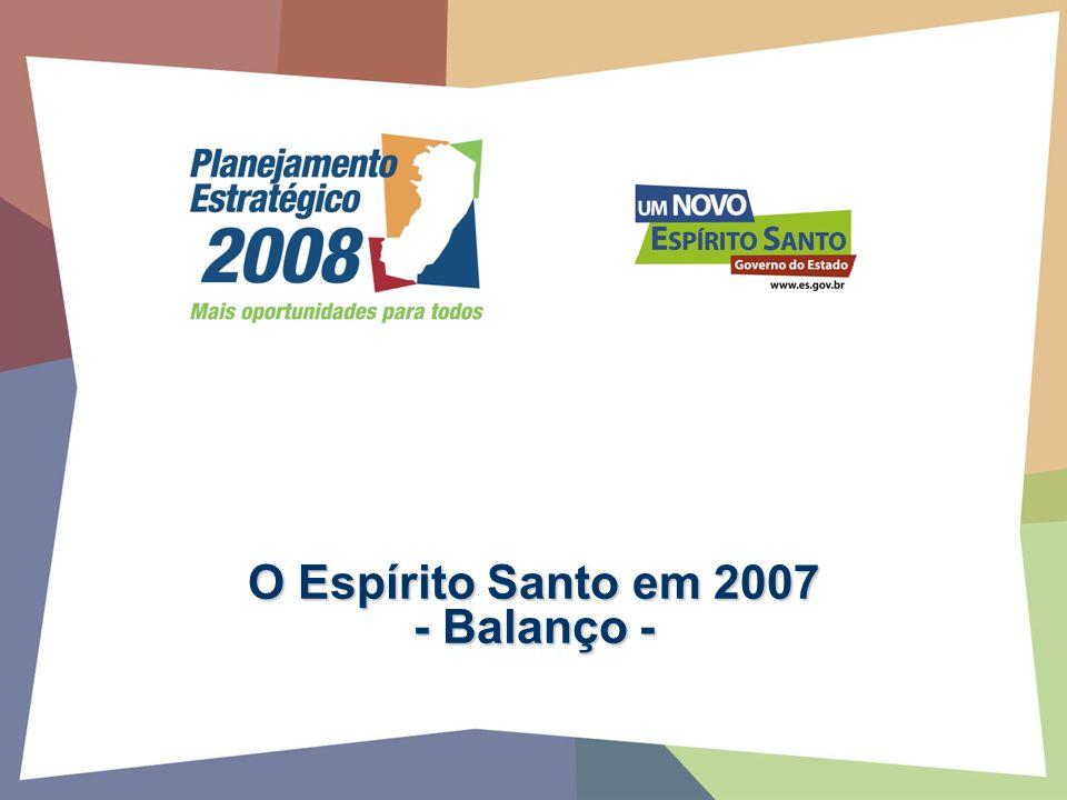 O Espírito Santo em 2007 - Balanço -