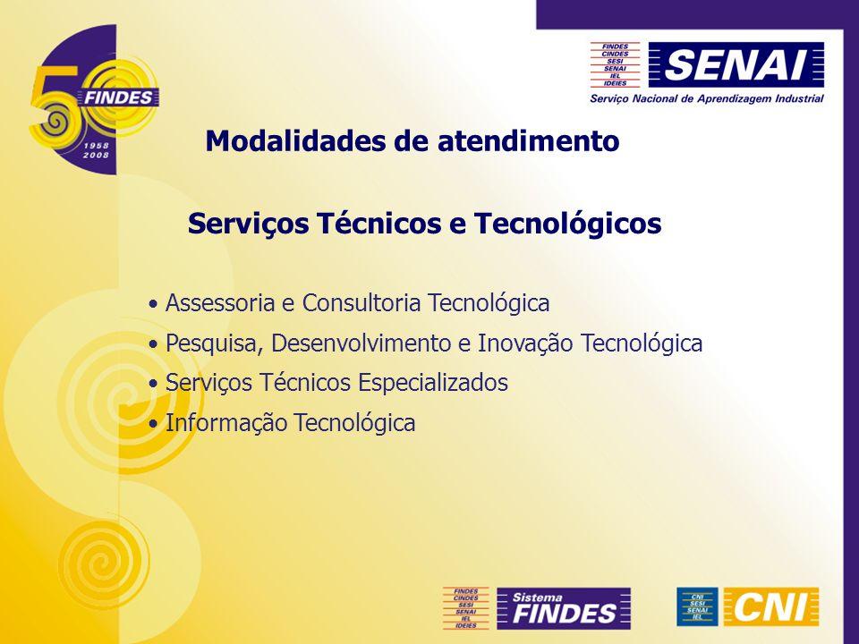 Serviços Técnicos e Tecnológicos Assessoria e Consultoria Tecnológica Pesquisa, Desenvolvimento e Inovação Tecnológica Serviços Técnicos Especializado