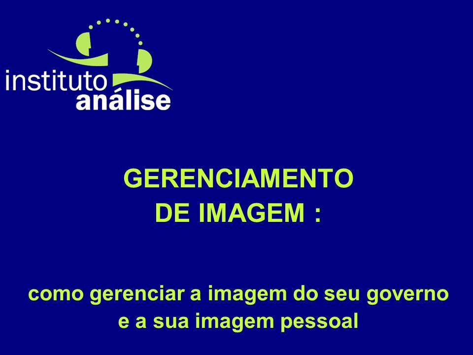 GERENCIAMENTO DE IMAGEM : como gerenciar a imagem do seu governo e a sua imagem pessoal