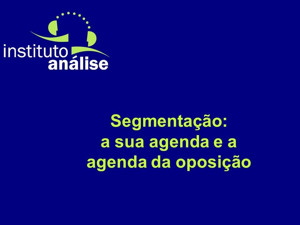 Segmentação: a sua agenda e a agenda da oposição