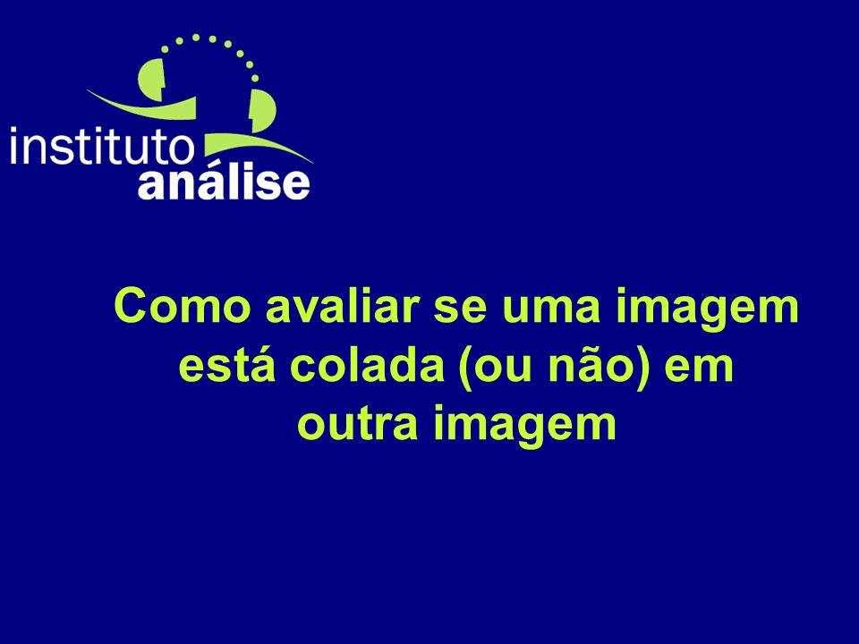 Como avaliar se uma imagem está colada (ou não) em outra imagem