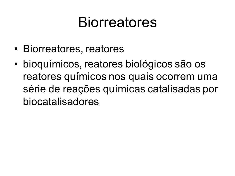 Biorreatores Biorreatores, reatores bioquímicos, reatores biológicos são os reatores químicos nos quais ocorrem uma série de reações químicas catalisadas por biocatalisadores