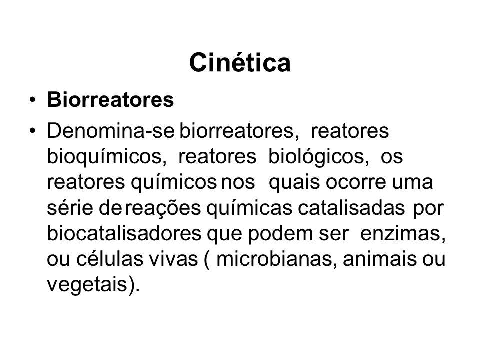 Biorreatores Denomina-se biorreatores, reatores bioquímicos, reatores biológicos, os reatores químicosnosquais ocorre uma série dereações químicas cat