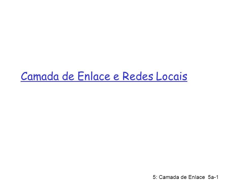 5: Camada de Enlace 5a-1 Camada de Enlace e Redes Locais