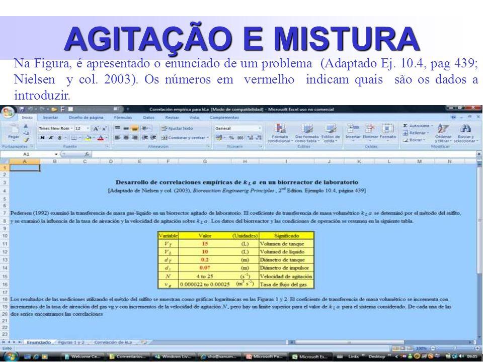AGITAÇÃO E MISTURA Na Figura, é apresentado o enunciado de um problema (Adaptado Ej.