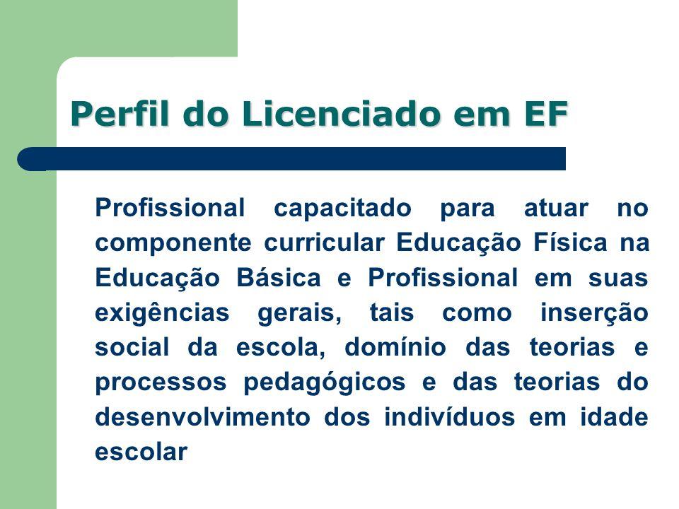 Profissional capacitado para atuar no componente curricular Educação Física na Educação Básica e Profissional em suas exigências gerais, tais como ins