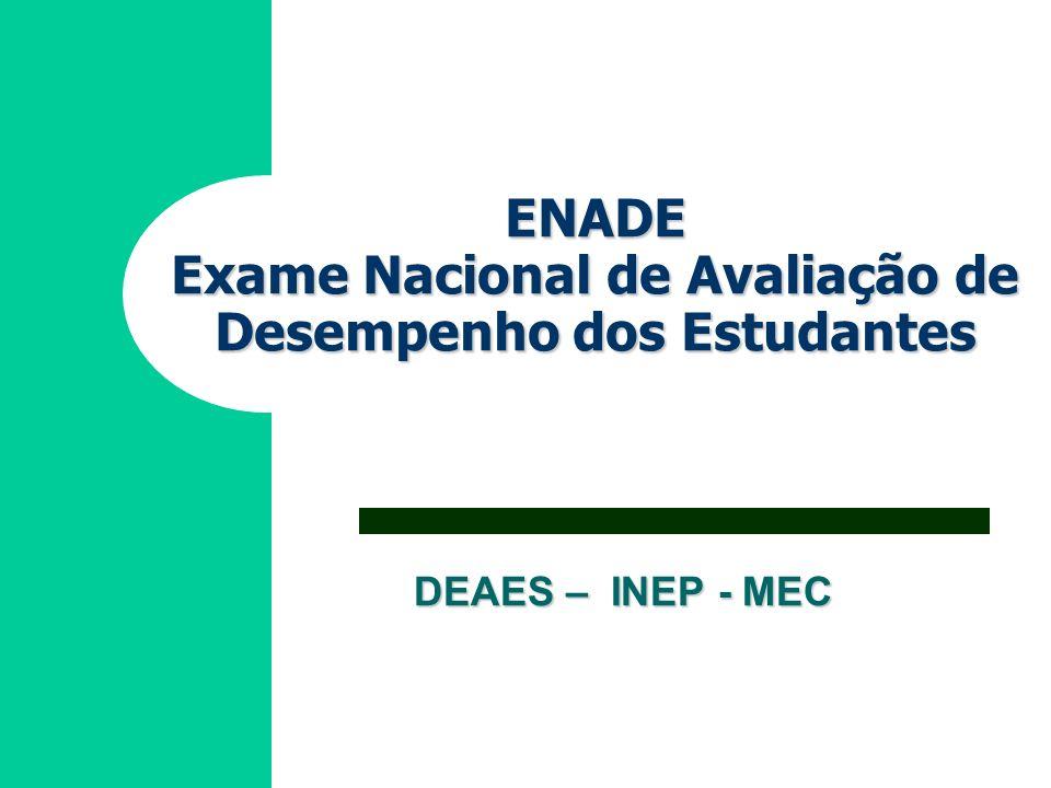 DEAES – INEP - MEC ENADE Exame Nacional de Avaliação de Desempenho dos Estudantes