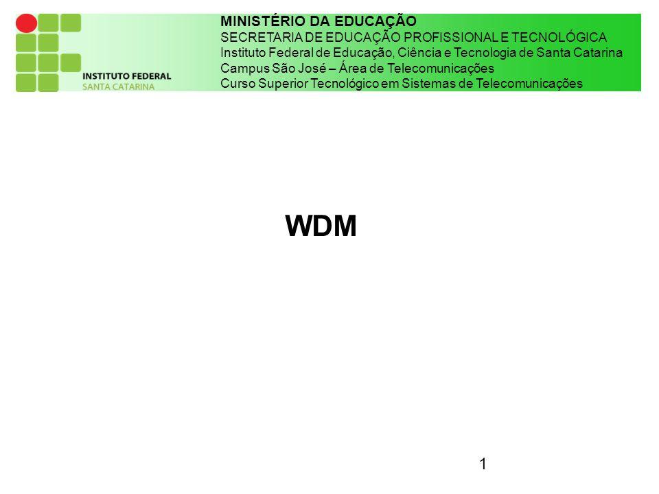 1 MINISTÉRIO DA EDUCAÇÃO SECRETARIA DE EDUCAÇÃO PROFISSIONAL E TECNOLÓGICA Instituto Federal de Educação, Ciência e Tecnologia de Santa Catarina Campu