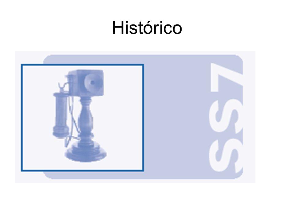 Unidades de Sinal - SU MSU – Message Signal Unit –Transportam mensagens de sinalização LSSU – Link Status Signal Unit –Informações sobre o estado do enlace aos dois pontos finais FISU – Fill In Signal Unit –Pacotes de preenchimento –Manutenção do alinhamento em enlaces ociosos