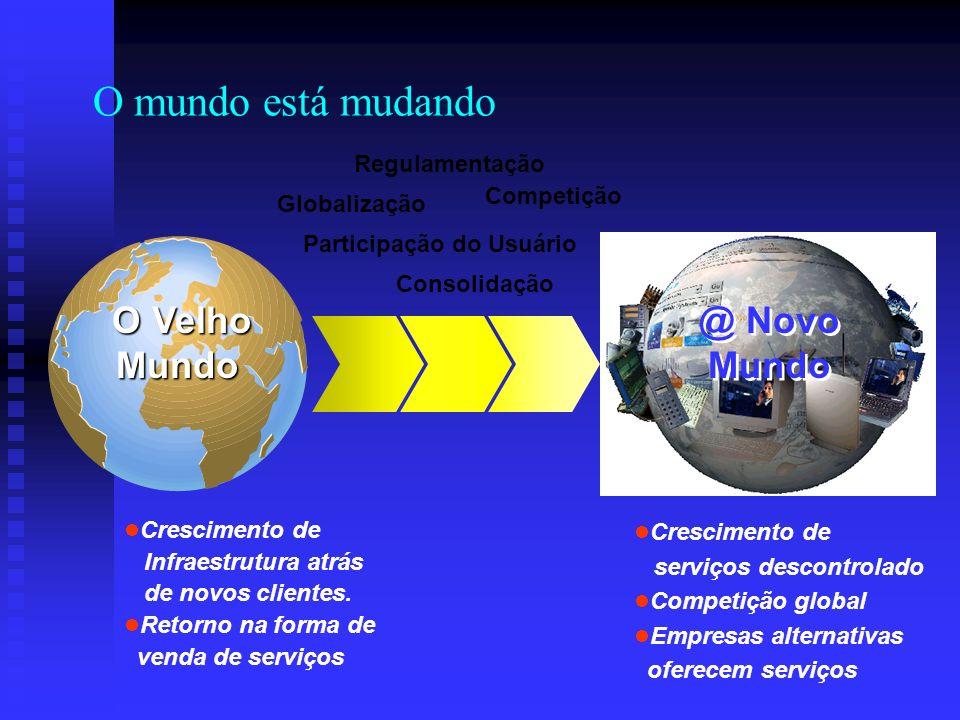 Regulamentação Participação do Usuário Consolidação Globalização Competição Crescimento de Infraestrutura atrás de novos clientes. Retorno na forma de