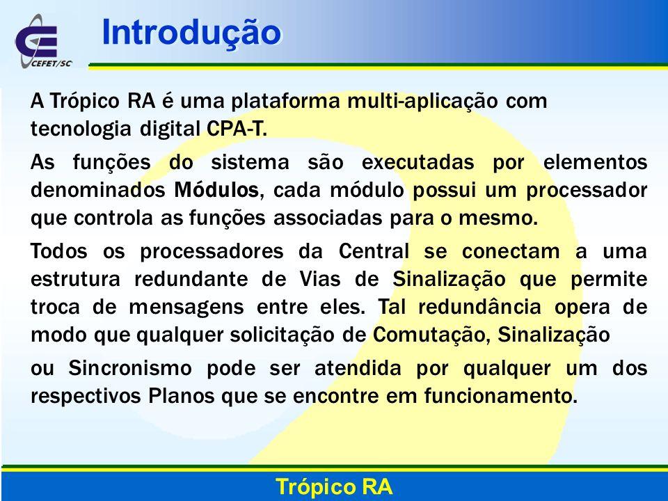 Introdução Trópico RA A Trópico RA é uma plataforma multi-aplicação com tecnologia digital CPA-T. As funções do sistema são executadas por elementos d