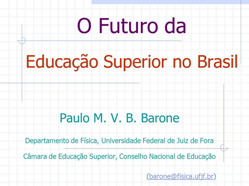 O Futuro da Educação Superior no Brasil Paulo M. V.