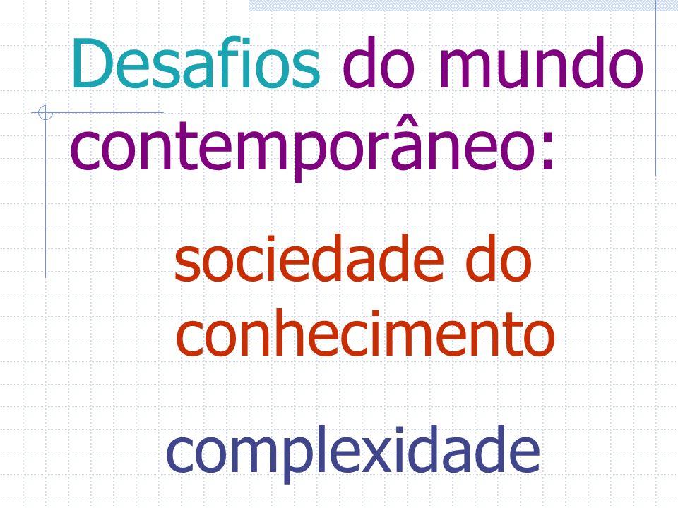 Desafios do mundo contemporâneo: sociedade do conhecimento complexidade