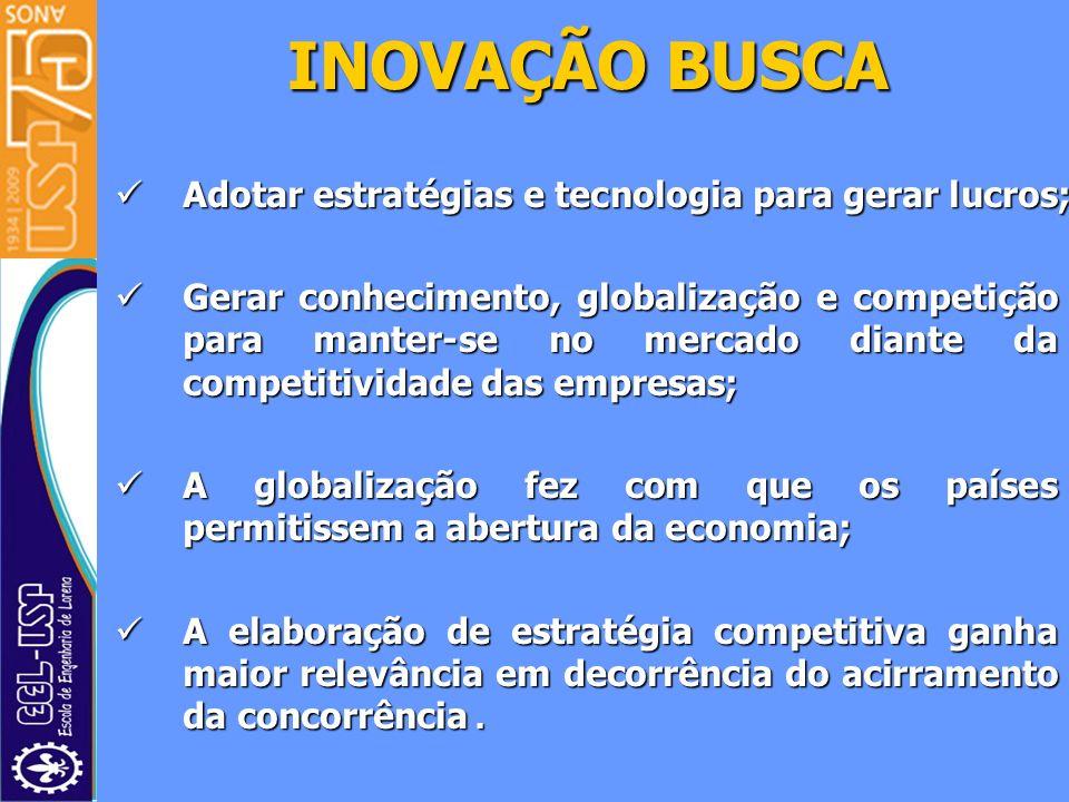 Adotar estratégias e tecnologia para gerar lucros; Adotar estratégias e tecnologia para gerar lucros; Gerar conhecimento, globalização e competição pa