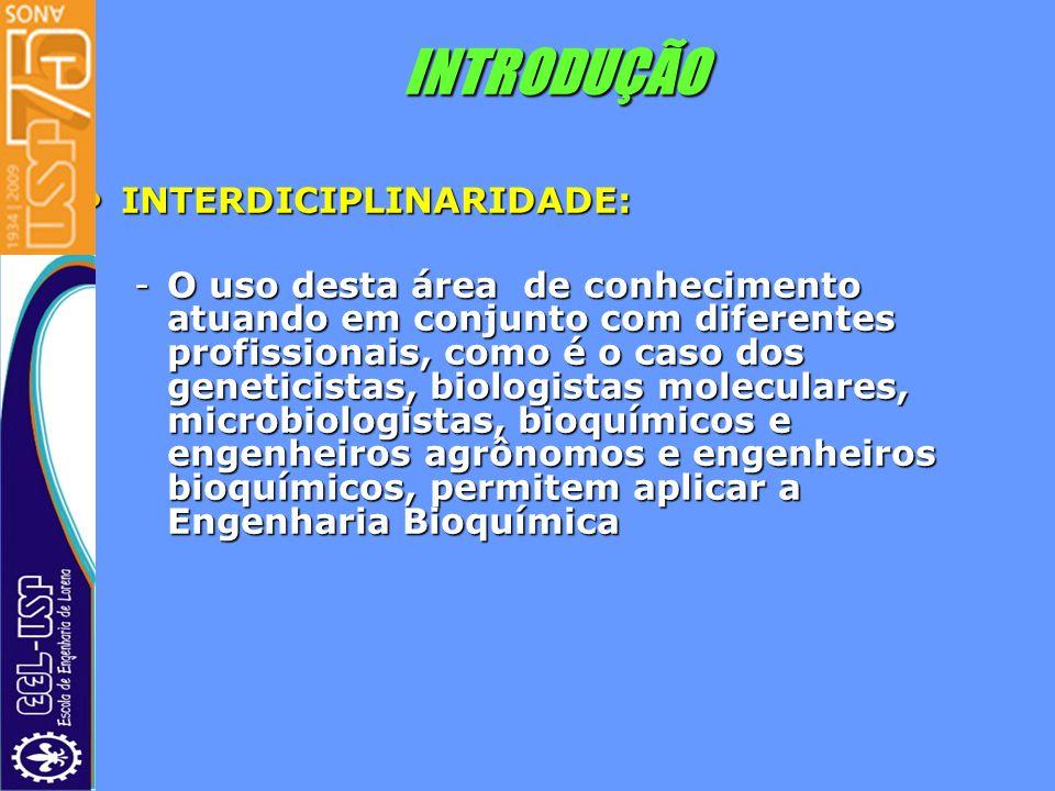 INTRODUÇÃO INTERDICIPLINARIDADE: INTERDICIPLINARIDADE: -O uso desta área de conhecimento atuando em conjunto com diferentes profissionais, como é o ca