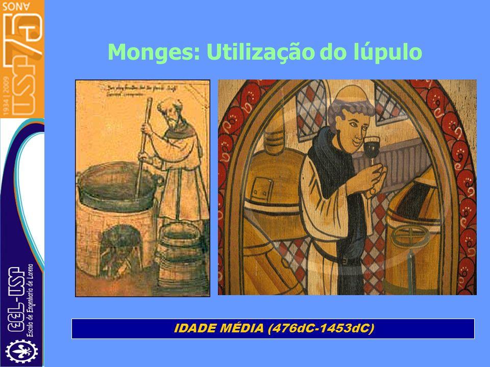 Monges: Utilização do lúpulo IDADE MÉDIA (476dC-1453dC)