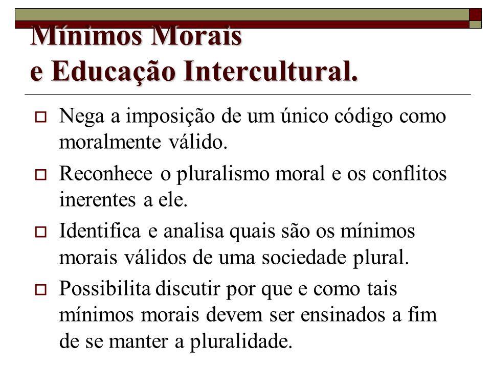 Quais as possibilidades argumentativas para se justificar uma educação que se empenhe em construir e mínimos morais para uma sociedade marcada pela di