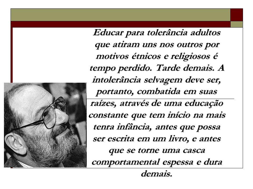 Proposta de uma agenda mínima para o campo ético e para a educação intercultural: LIBERDADE IGUALDADE SOLIDARIEDADE DIÁLOGO TOLERÂNCIA