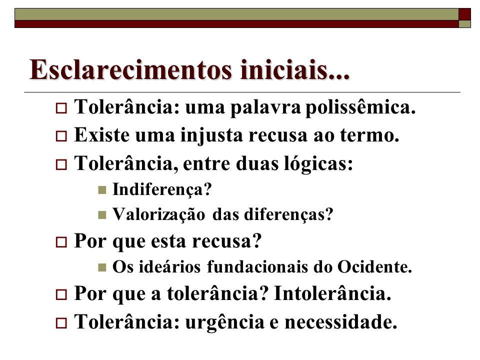 Diversidade cultural e ação docente: é possível educar para tolerância? Marcelo Andrade Departamento de Educação / PUC-Rio