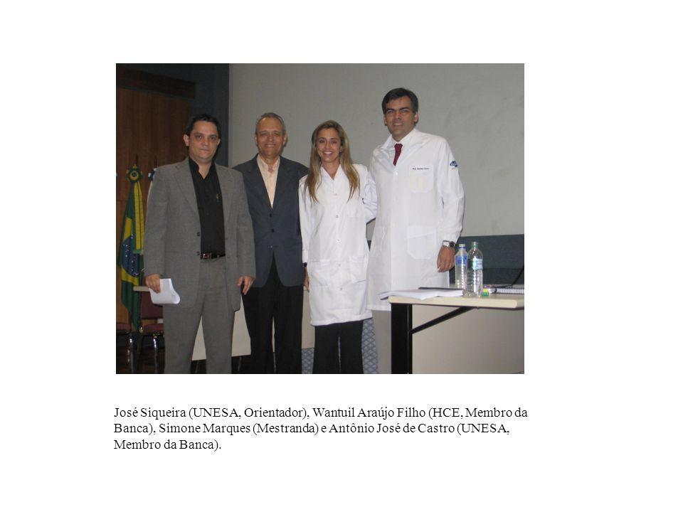 Saulo Moraes (SUAM e UVA, Membro da Banca), Isabela Rôças Siqueira (UNESA, Orientadora), Karen Magalhães (Mestranda) e Tauby Coutinho (UERJ, Membro da Banca).