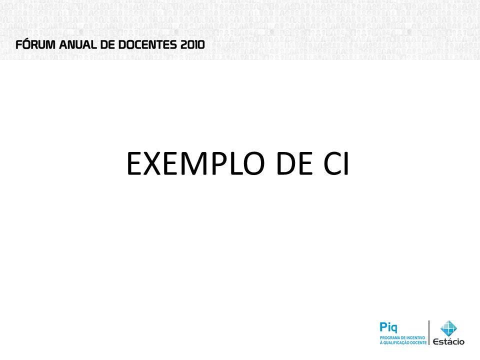 EXEMPLO DE CI