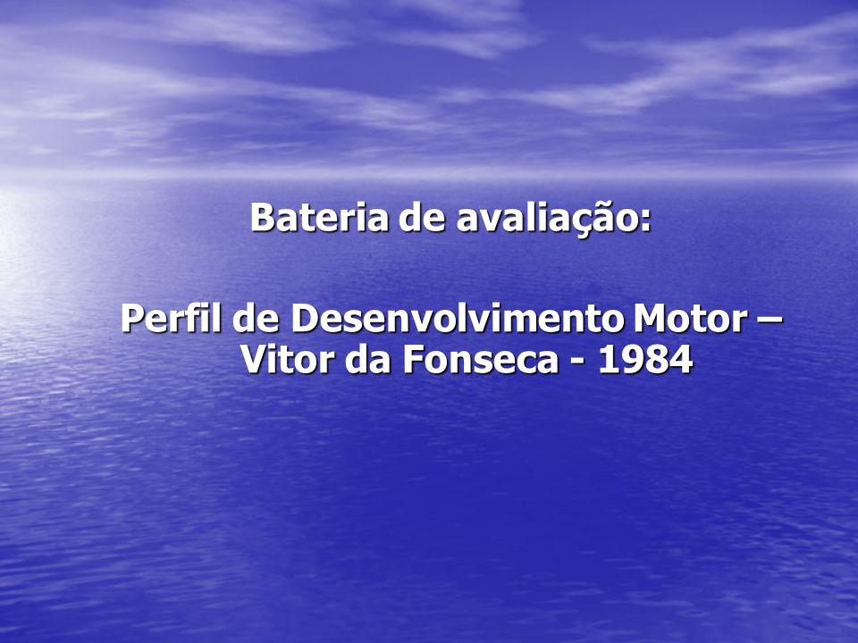 PROTOCOLO – PERFIL DE DESENVOLVIMENTO (VITOR DA FONSECA 1984) Avaliação Evolutiva Áreas 1ª Obs.