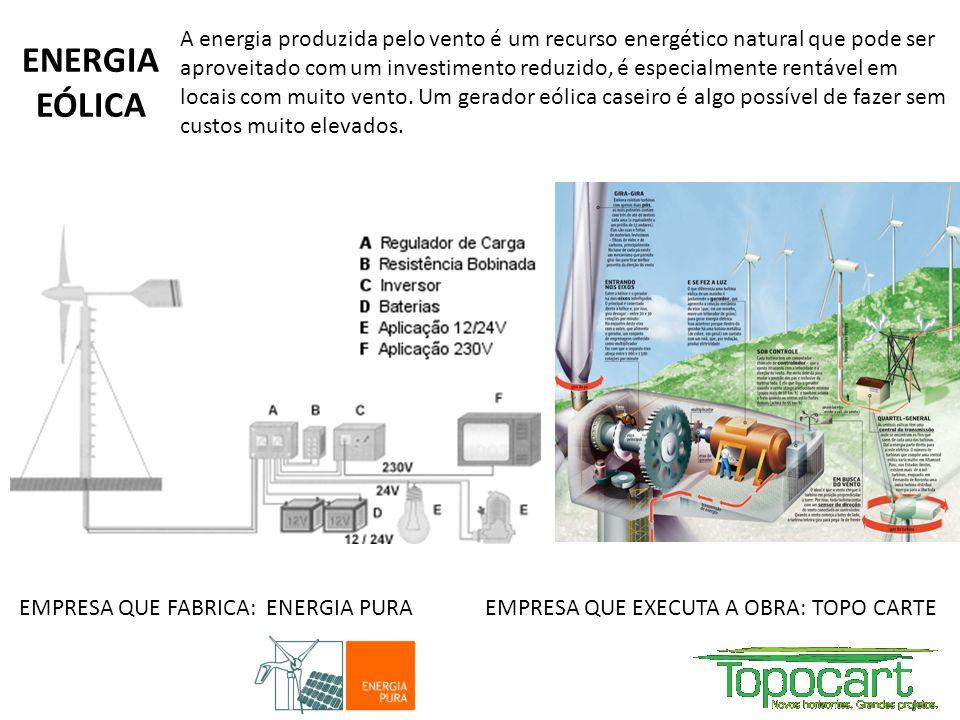 A energia produzida pelo vento é um recurso energético natural que pode ser aproveitado com um investimento reduzido, é especialmente rentável em loca