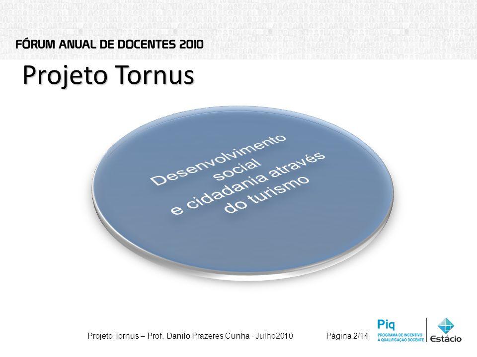 Projeto Tornus Projeto Tornus – Prof. Danilo Prazeres Cunha - Julho2010Página 2/14