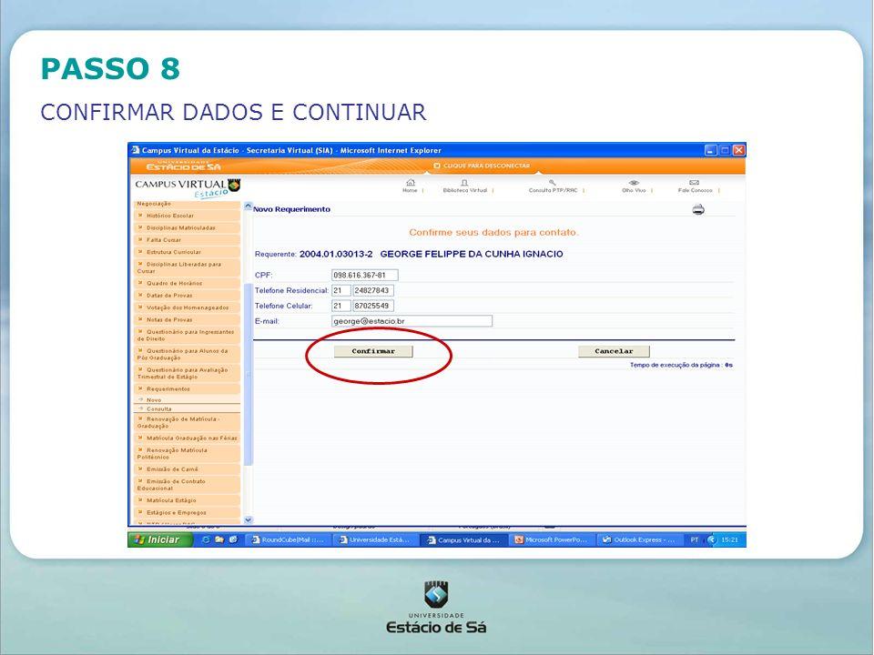 PASSO 10 SERÁ GERADO UM NÚMERO DE PROTOCOLO PARA ACOMPANHAMENTO DO PROCESSO - DAR OK E FECHAR O PROCEDIMENTO