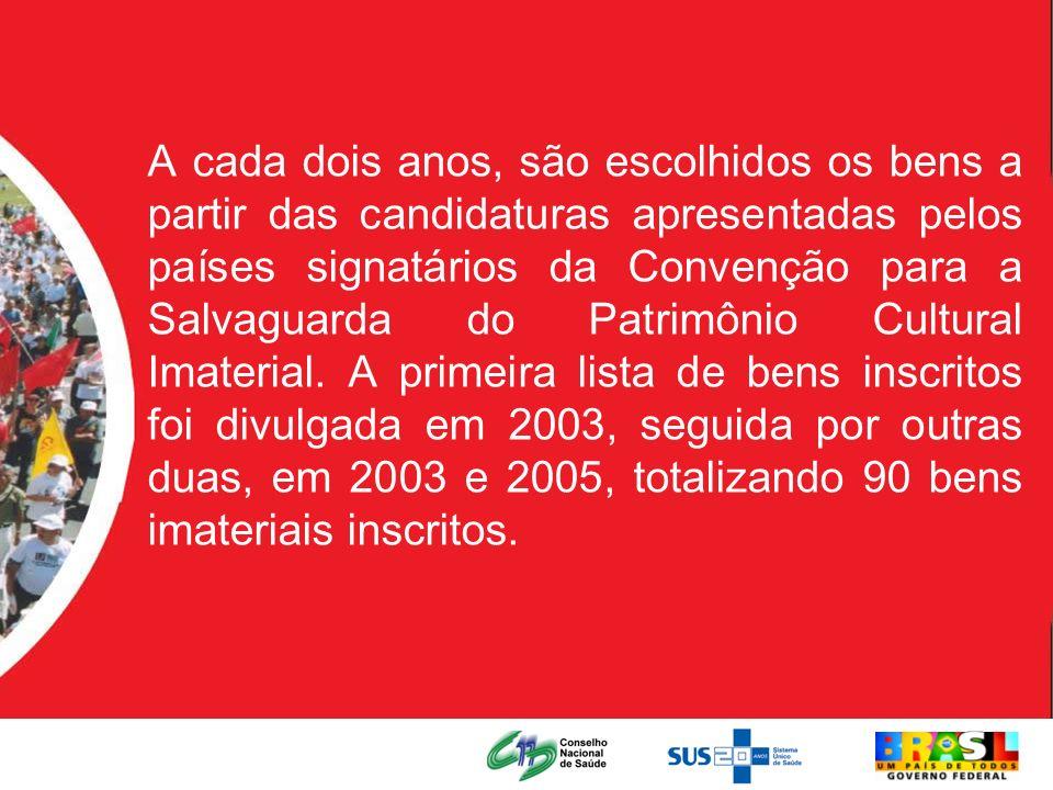 A cada dois anos, são escolhidos os bens a partir das candidaturas apresentadas pelos países signatários da Convenção para a Salvaguarda do Patrimônio
