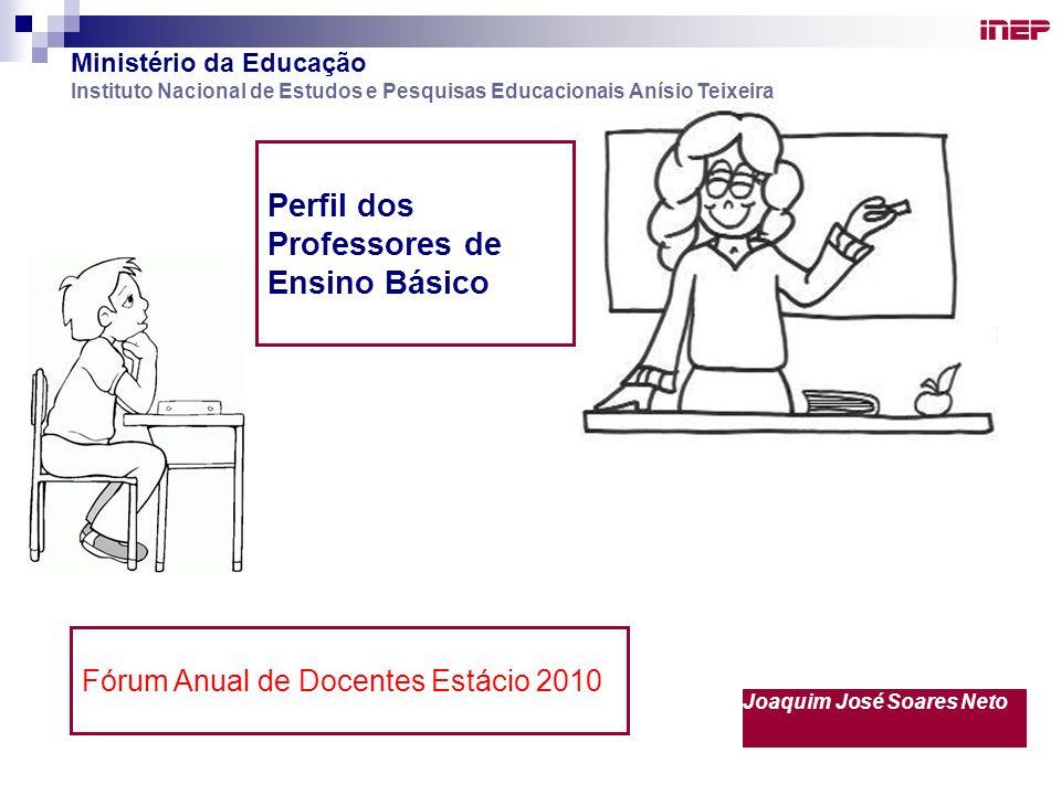Perfil dos Professores de Ensino Básico Ministério da Educação Instituto Nacional de Estudos e Pesquisas Educacionais Anísio Teixeira Joaquim José Soa